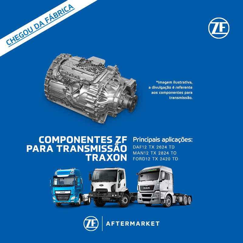ZF Aftermarket amplia portfólio de componentes para transmissão TraXon