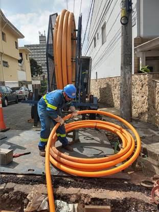 Comgás renova rede e faz novas expansões com tubos de polietileno