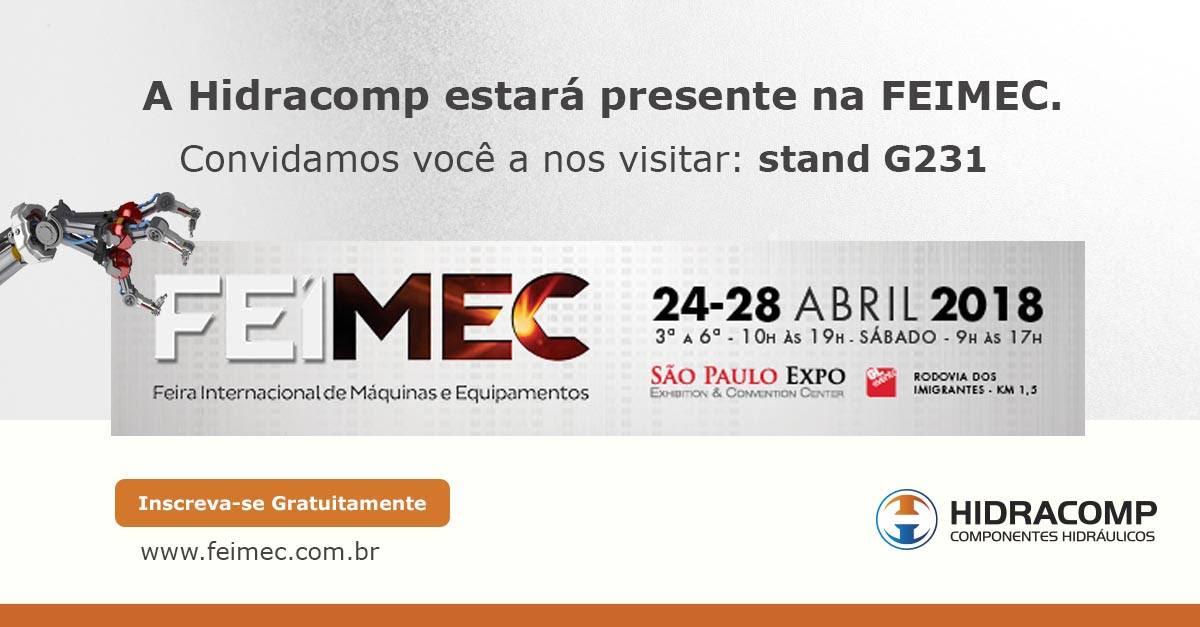 A Hidracomp é uma das grandes marcas a participar da FEIMEC