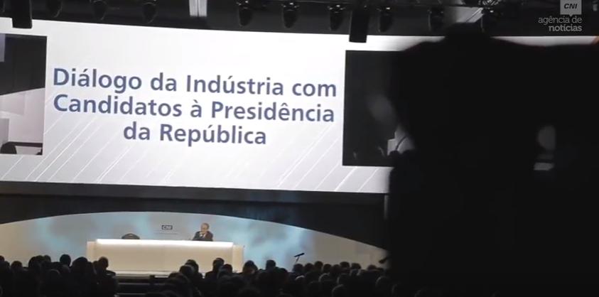 Empresários comentam participação de candidatos à Presidência em evento da CNI